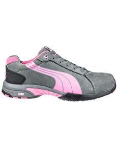 Puma Women's Balance Work Shoes - Steel Toe, Grey, hi-res