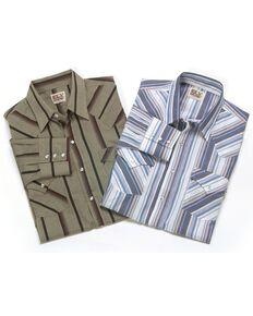 Ely Walker Men's Assorted Long Sleeve Western Shirt - Big & Tall, Stripe, hi-res