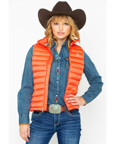 Ariat Women's Ideal Down Vest, Coral, hi-res