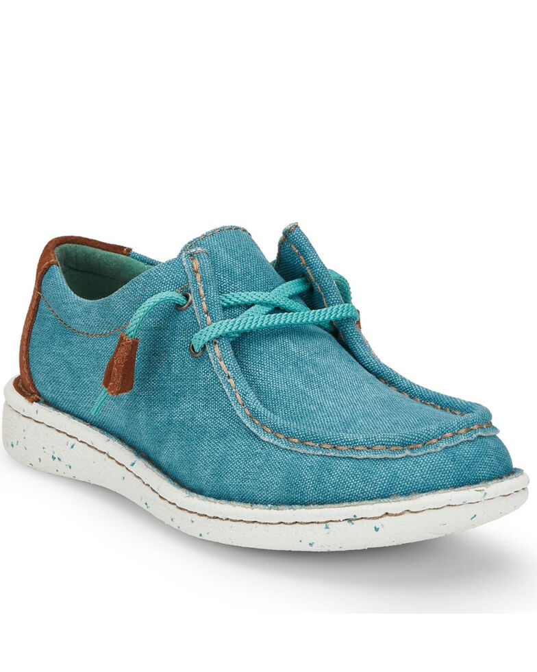 Justin Women's Hazer Turquoise Shoes - Moc Toe, Turquoise, hi-res