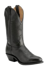 Boulet Cowboy Boots - Medium Toe, Black, hi-res