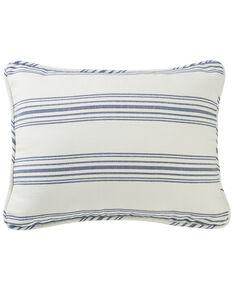 HiEnd Accents Prescott Navy Stripe Pillow Sham Set - Queen , Navy, hi-res
