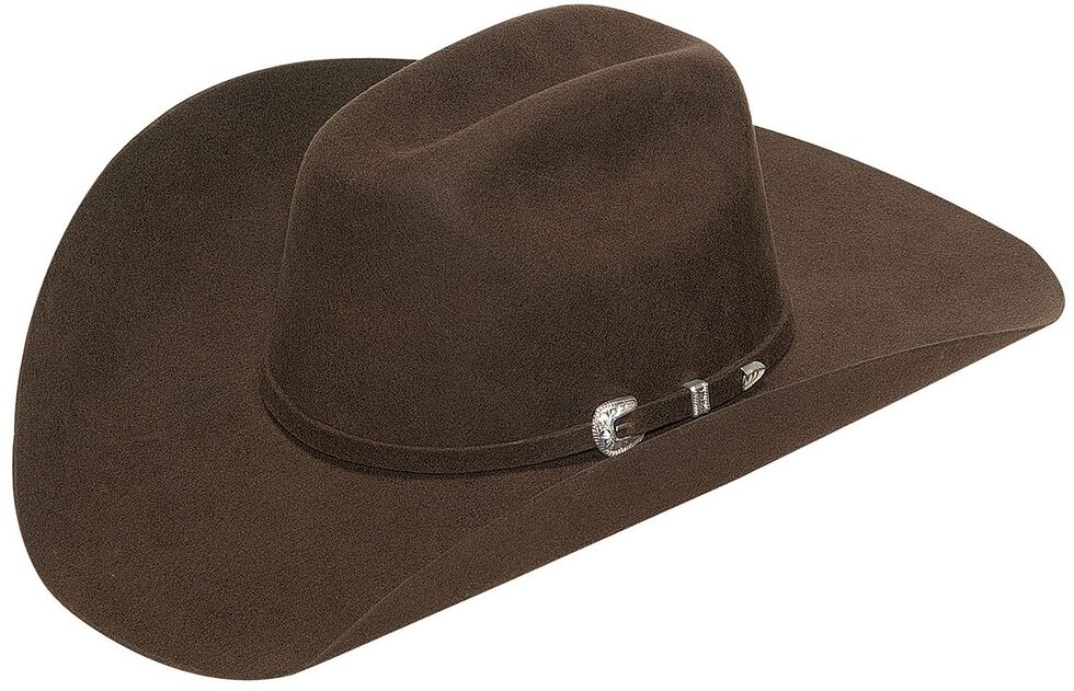 Twister Men's Laredo Self Band with Three-Piece Buckle Hat, Chocolate, hi-res