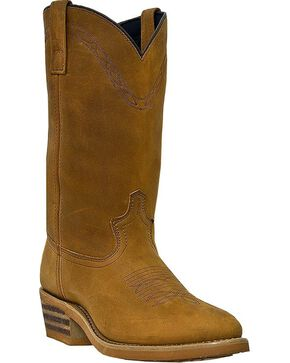 Laredo Denver Cowboy Boots - Round Toe, Brown, hi-res
