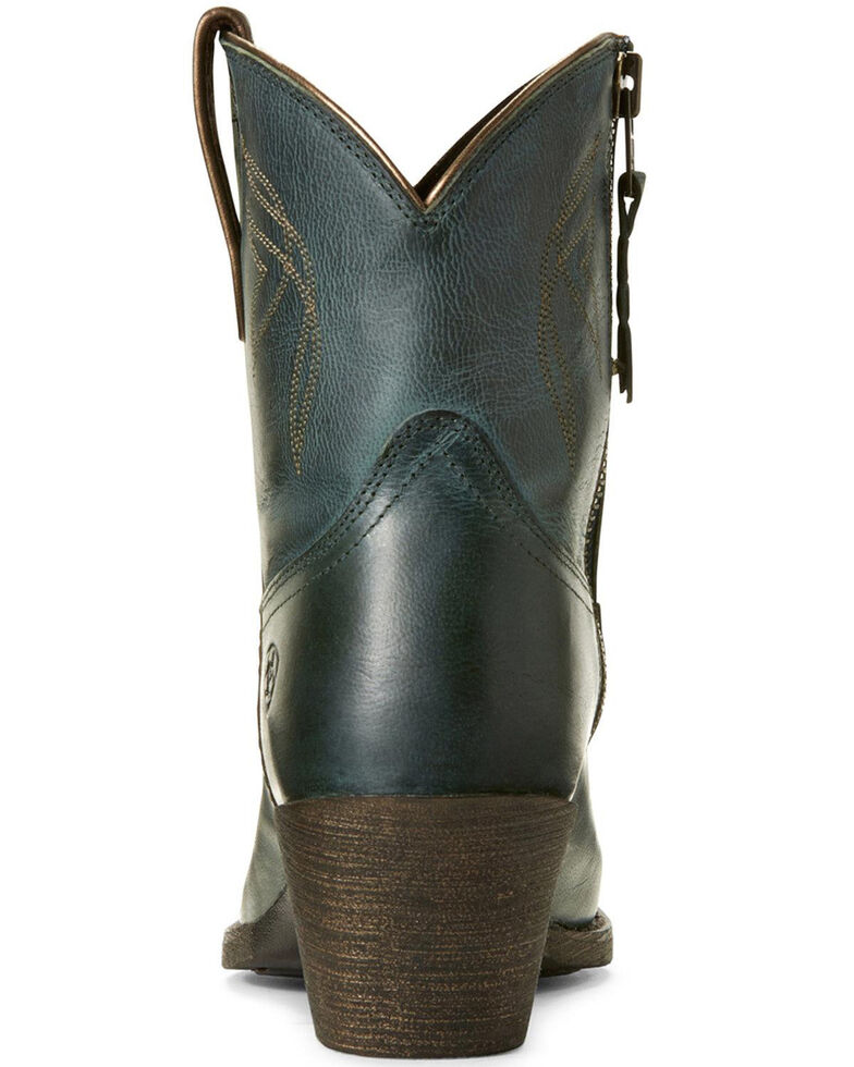 Ariat Women's Lovely Blue Grass Western Booties - Snip Toe, Blue, hi-res