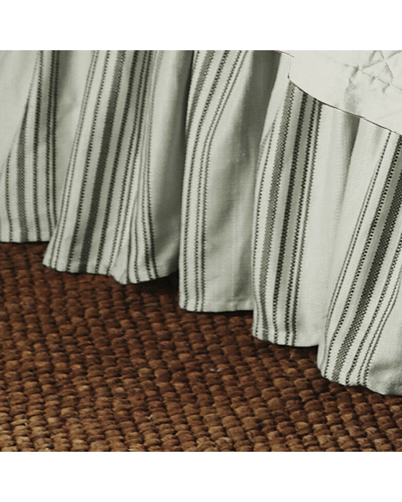 HiEnd Accents Prescott Taupe Stripe Bedskirt - Queen, Taupe, hi-res