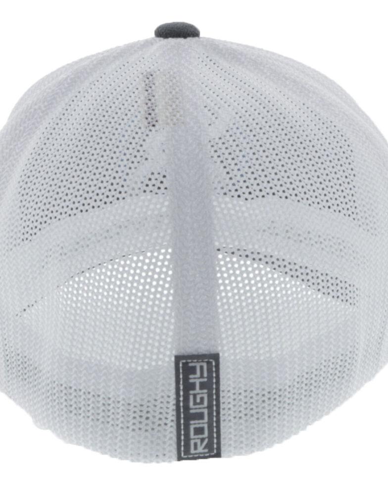 Hooey Men's Charcoal Roughy Flex Fit Mesh Ball Cap , Charcoal, hi-res