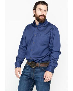 Ariat Men's Bansky Print Perf Long Sleeve Western Shirt , Navy, hi-res