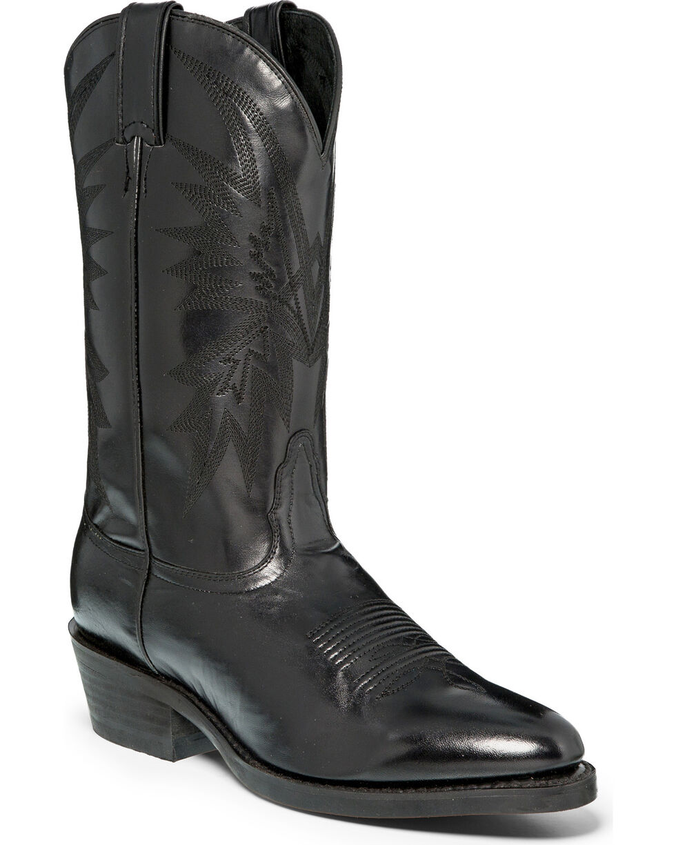 "Nocona Men's Black 12"" Cowboy Boots - Medium Toe, Black, hi-res"
