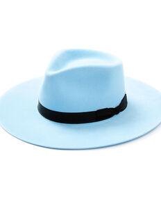 Shyanne Women's Bone Light Blue Wool-Felt Western Hat  , Light Blue, hi-res