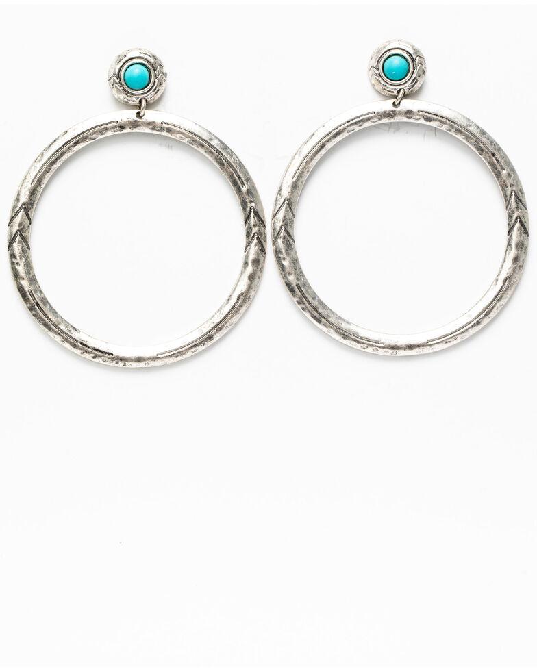 Idyllwind Women's No Ordinary Hoop Earrings, Silver, hi-res