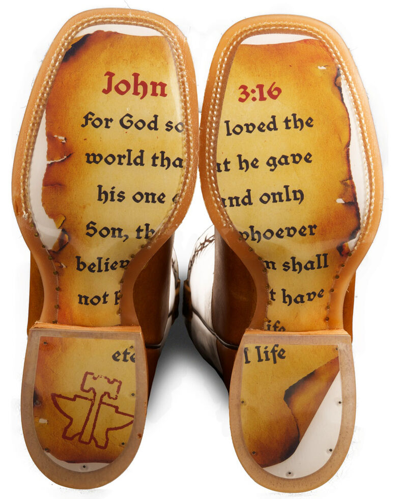 Tin Haul Women's Between Two Thieves & John 3:16 Cowgirl Boots - Square Toe, Brown, hi-res