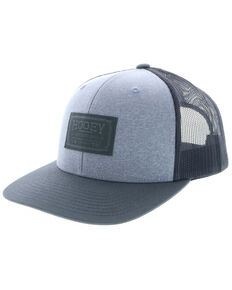 06d9d10032789 HOOey Men s Grey Doc Woven Square Patch Trucker Cap