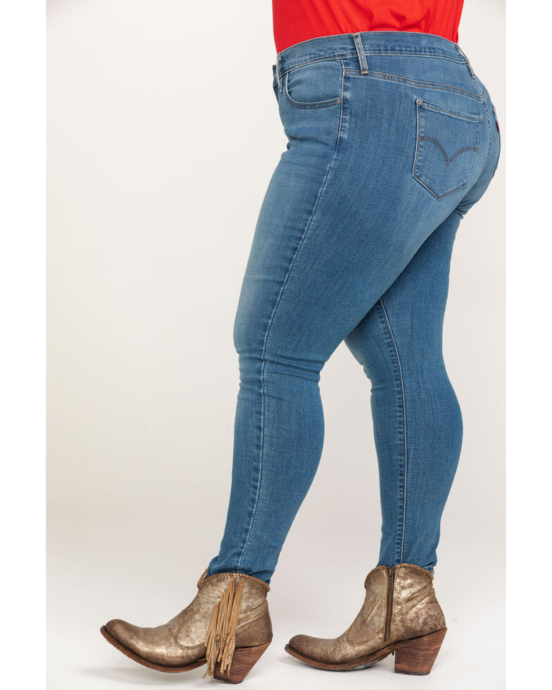 Levi's Women's 711 Mid Indigo Rays Skinny Jeans - Plus, Blue, hi-res