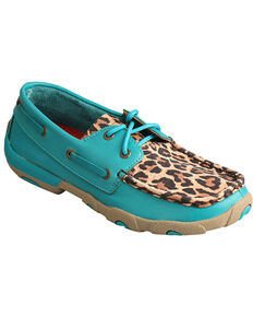 1a87bc24dc0 Twisted X Women s Turquoise Leopard Driving Moccasins