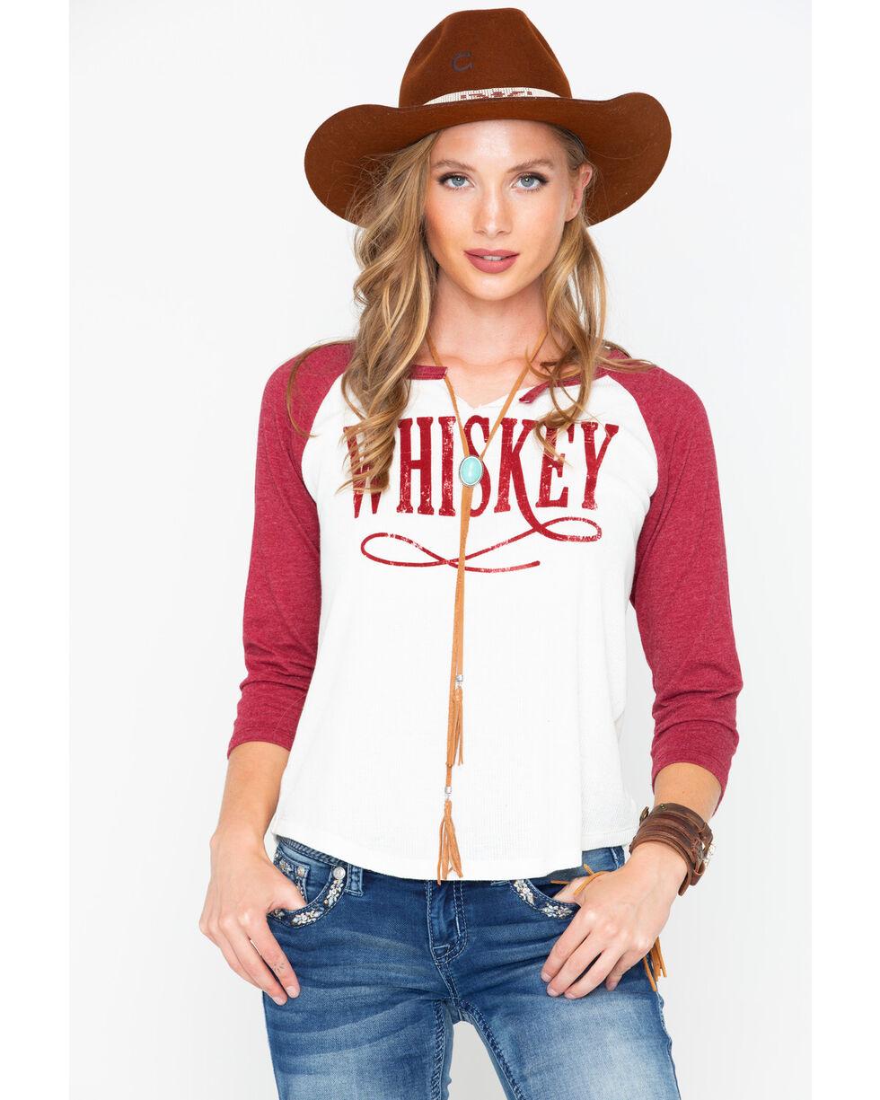 IOC Women's Whiskey Graphic Baseball Tee, Wine, hi-res