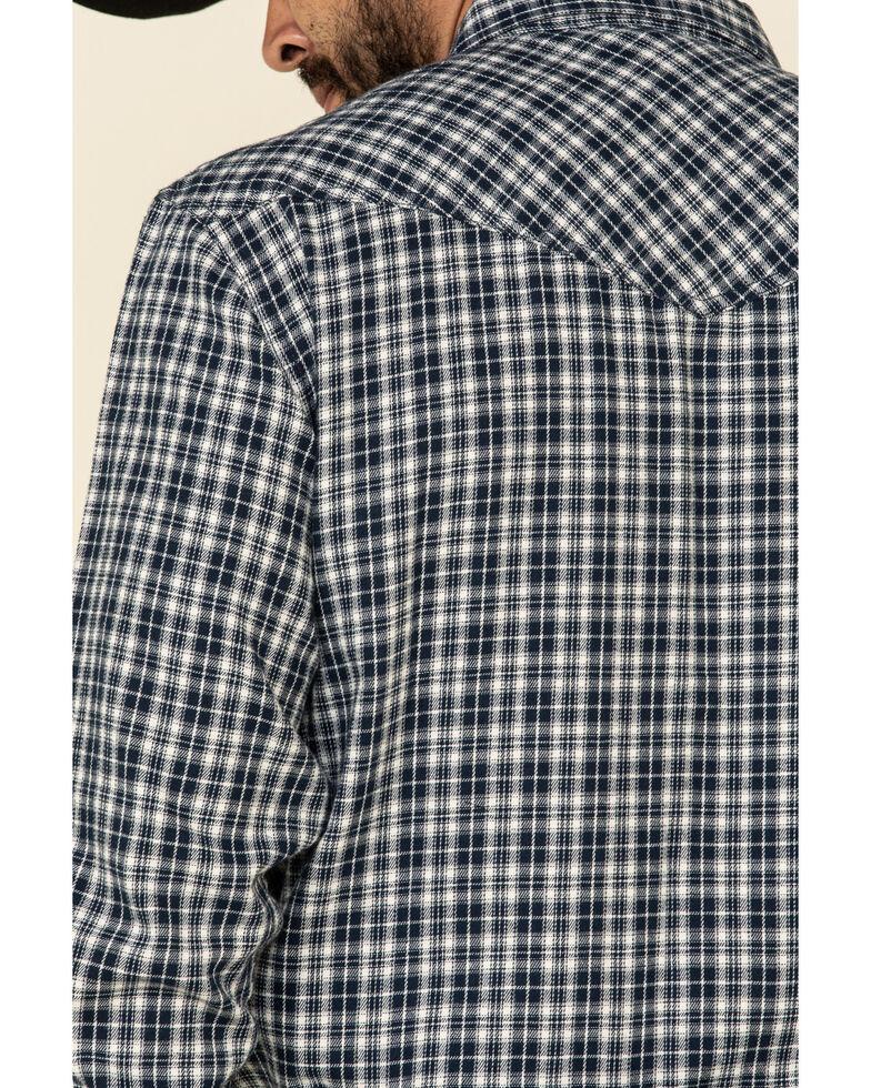 Cody James Men's Ash Small Plaid Long Sleeve Western Flannel Shirt - Tall , Navy, hi-res