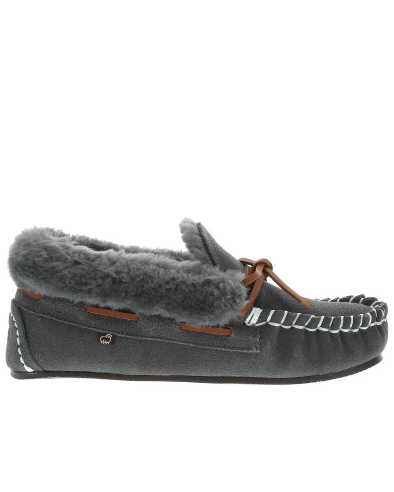Lamo Footwear Women's Mila Charcoal Slippers - Moc Toe, Charcoal, hi-res