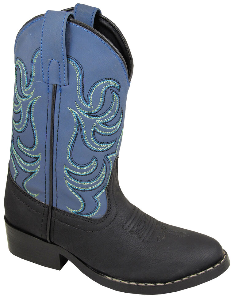 Smoky Mountain Youth Boys' Monterey Western Boots - Round Toe, Black, hi-res