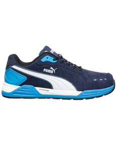 Puma Men's Airtwist Blue Work Shoes - Soft Toe, Blue, hi-res