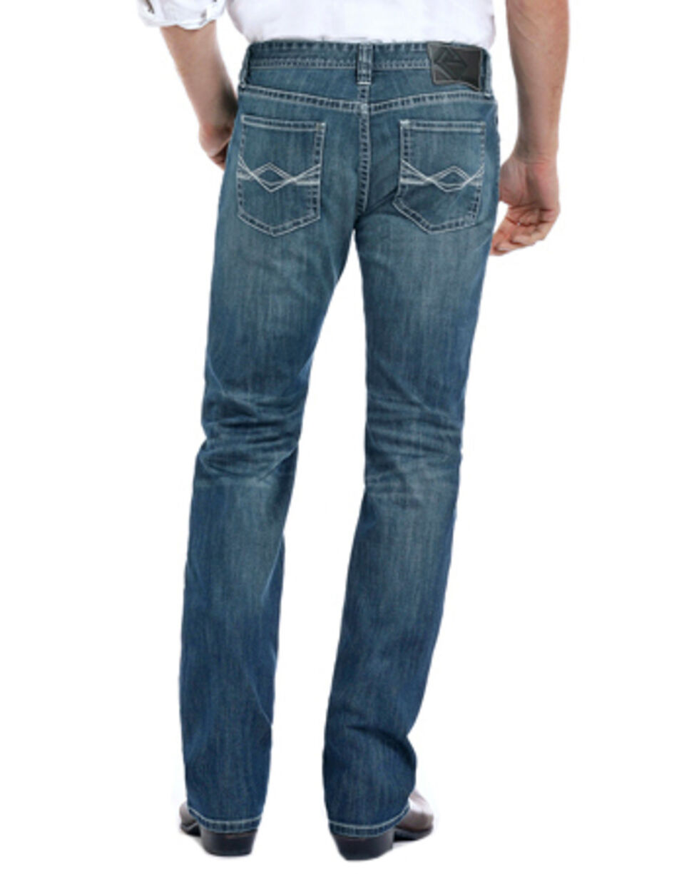 Rock & Roll Cowboy Men's Reflex Revolver Slim Straight Leg Jeans, Blue, hi-res