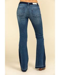 Rock & Roll Denim Women's Medium Dark Flare Jeans , Blue, hi-res