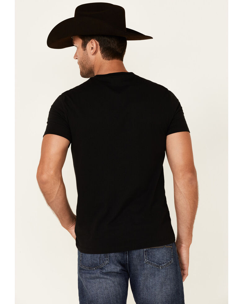 Rock & Roll Denim Men's Black Flag Logo Graphic Short Sleeve T-Shirt , Black, hi-res