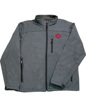 HOOey Men's Grey Soft Shell Fleece Lined Jacket , Grey, hi-res
