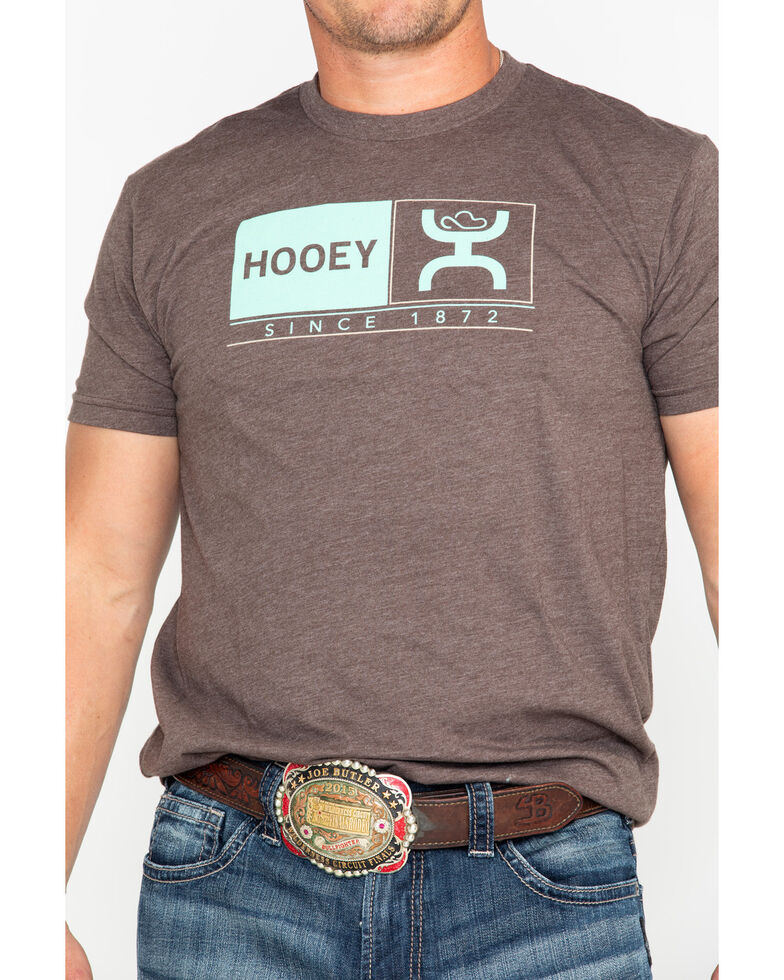 Hooey Men's Roots Since 1872 Graphic Logo T-Shirt , Brown, hi-res