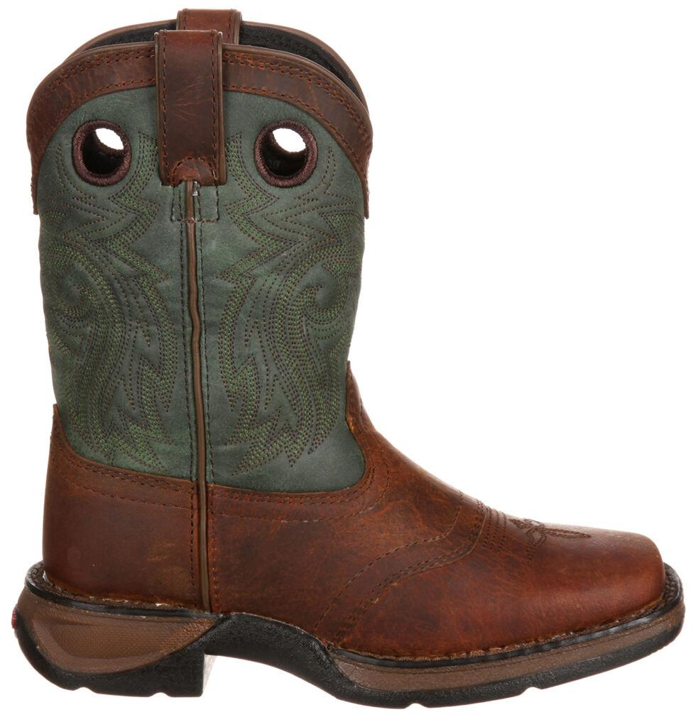 Durango Youth Boys' Saddle Brown Western Boots - Square Toe, Dark Brown, hi-res