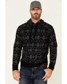 Rock & Roll Denim Men's Black Aztec Print Pullover Hooded Sweatshirt , Black, hi-res