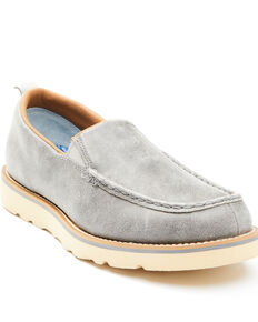 Wrangler Footwear Men's Casual Wedge Shoes - Moc Toe, Dark Grey, hi-res