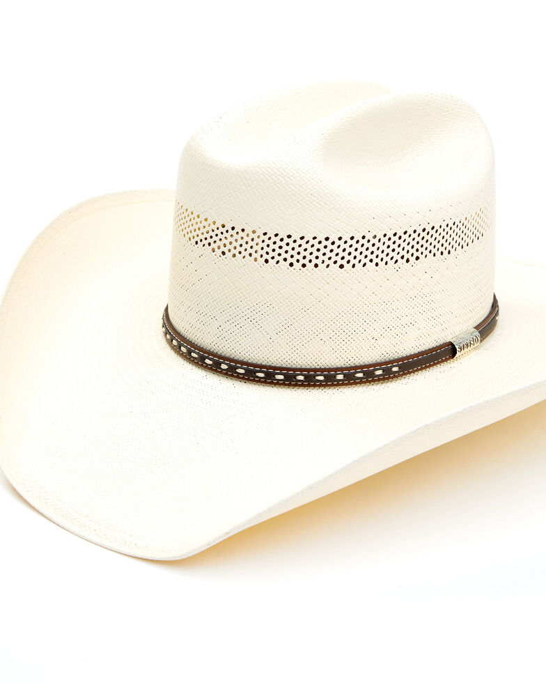 Stetson Men's Natural Crowley Straw Western Hat   , Natural, hi-res