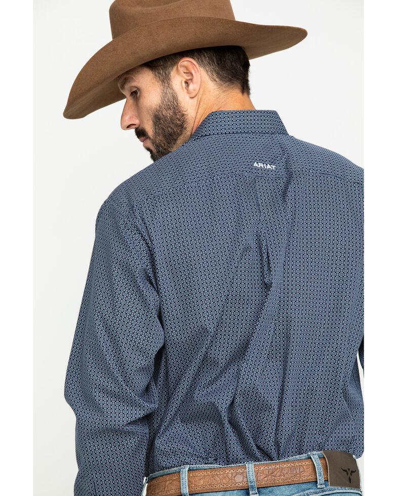 Ariat Men's Wrinkle Free Merritt Small Geo Print Long Sleeve Western Shirt - Tall , Multi, hi-res
