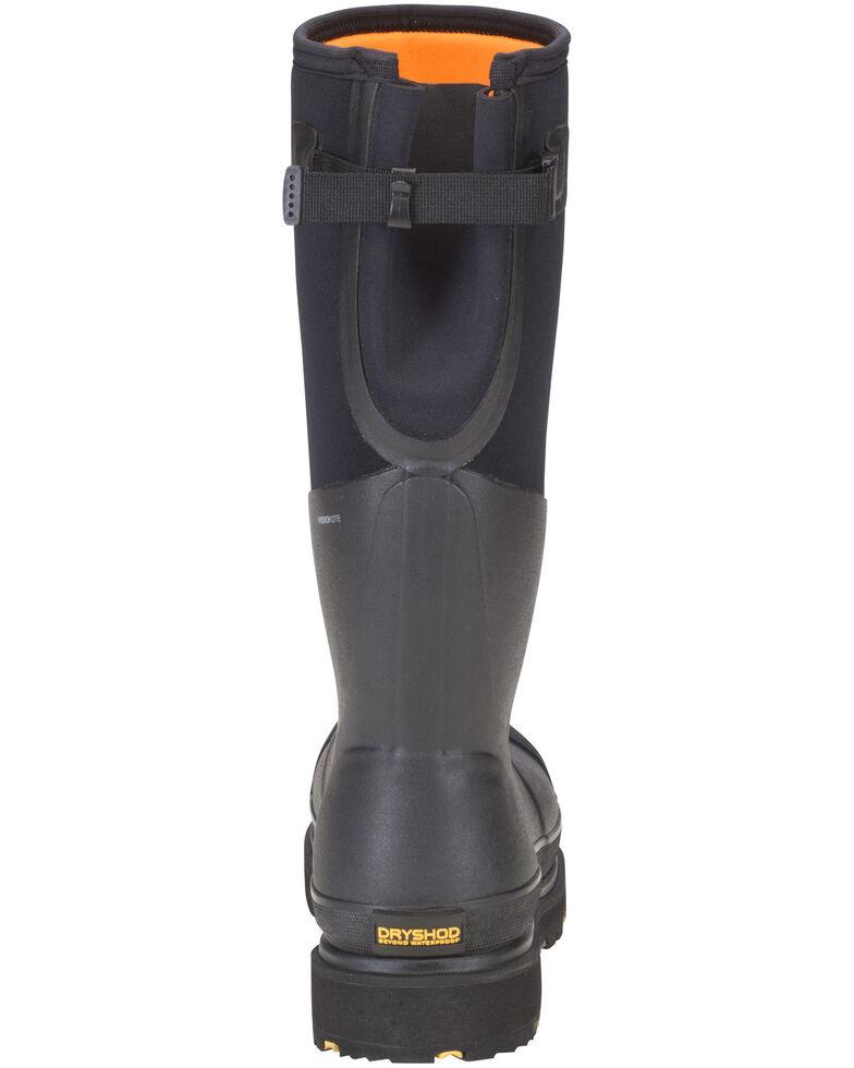 Dryshod Steel Toe Adjustable Gusset Work Boots, Black, hi-res