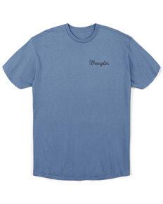 Wrangler Men's Blue Slate Banner Skull Graphic T-Shirt , Blue, hi-res
