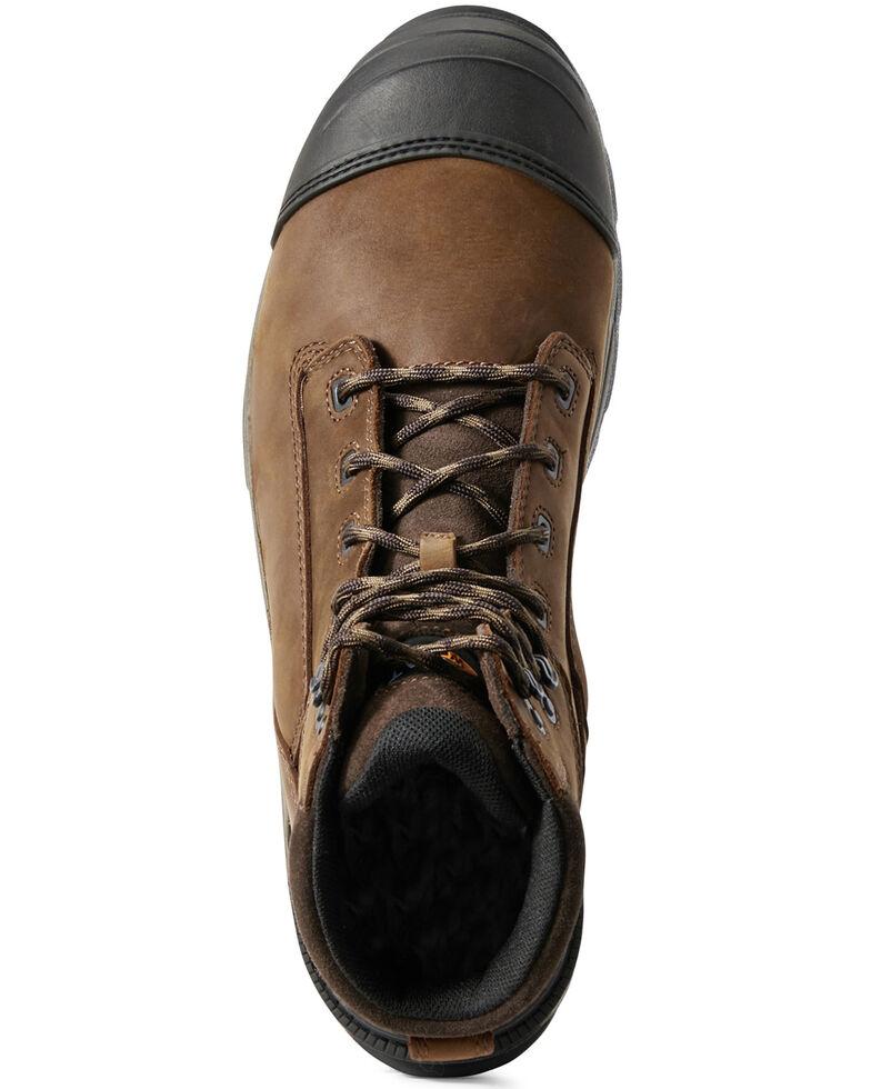 Ariat Men's Mastergrip Defend Waterproof Work Boots - Composite Toe, Brown, hi-res