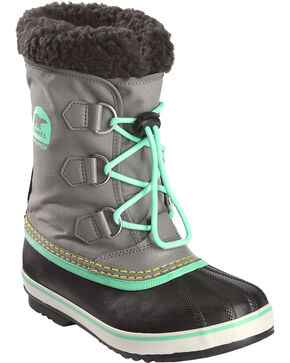 Sorel Boys' Grey Yoot Pac Nylon Boots - Round Toe , Grey, hi-res