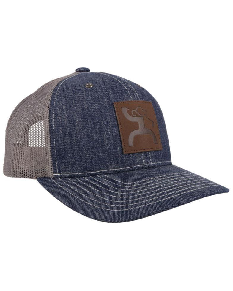 Hooey Men's Denim Grey Golf Patch Mesh Ball Cap , Blue, hi-res