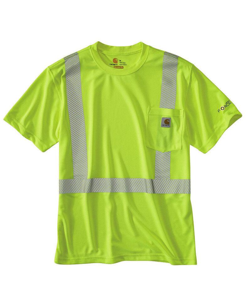 Carhartt Force High-Viz Short Sleeve Class 2 T-Shirt - Big & Tall, Yellow, hi-res