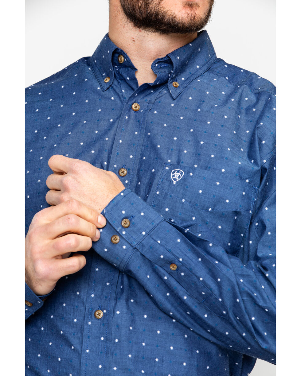 Ariat Men's Gatham Geo Print Long Sleeve Western Shirt , Multi, hi-res