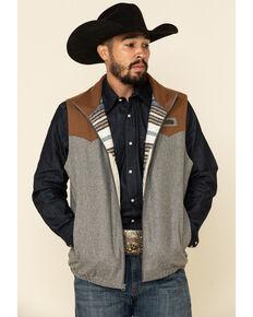 Cinch Men's Multi Color Blocked Concealed Carry Wool Blanket Vest - Big , Multi, hi-res
