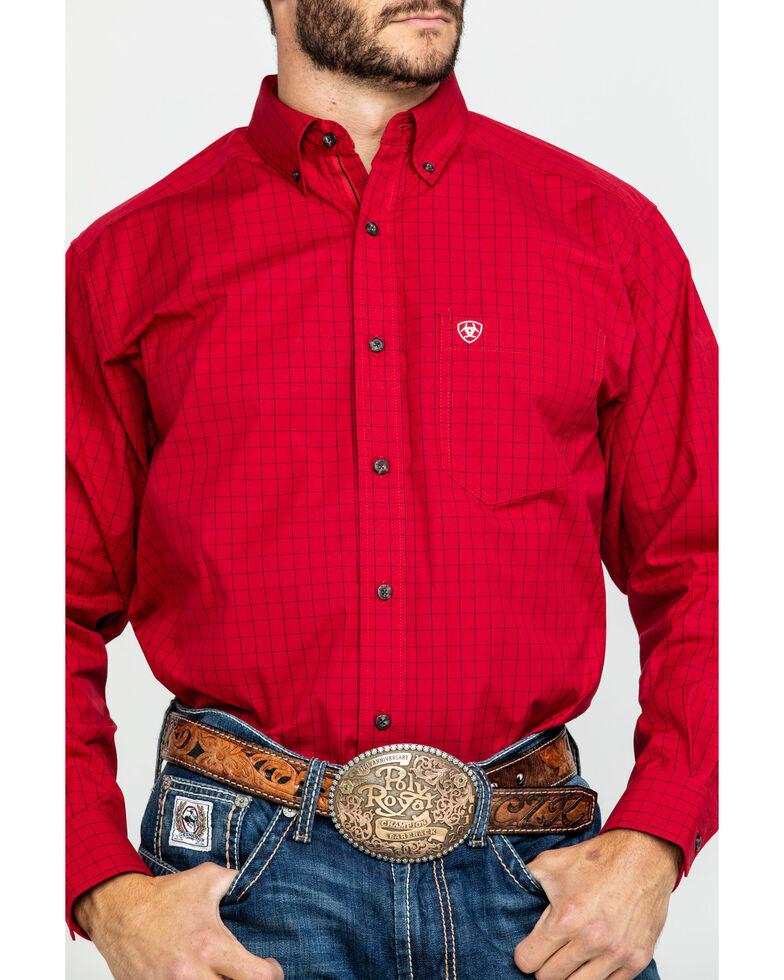 Ariat Men's Tailgate Plaid Long Sleeve Western Shirt - Big , Red, hi-res