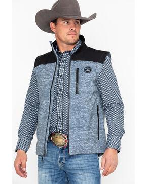 HOOey Men's Softshell Zip-Up Vest , Black, hi-res