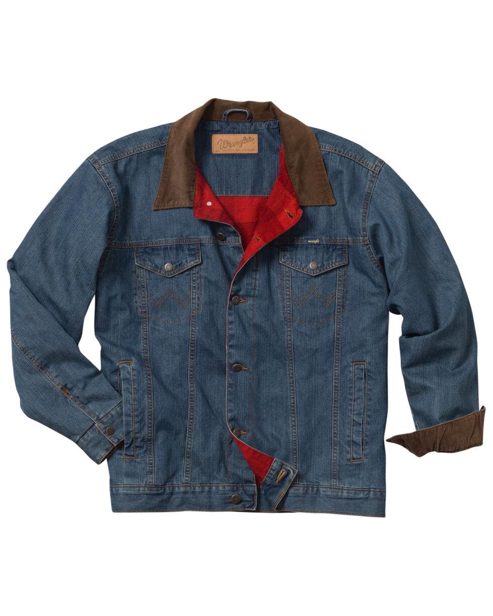 Wrangler Boys' Rustic Western Blanket Lined Jacket , Blue, hi-res