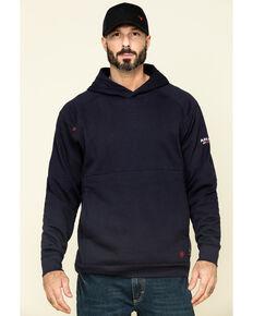 Ariat Men's FR Navy Rev Hooded Work Sweatshirt - Big , Navy, hi-res