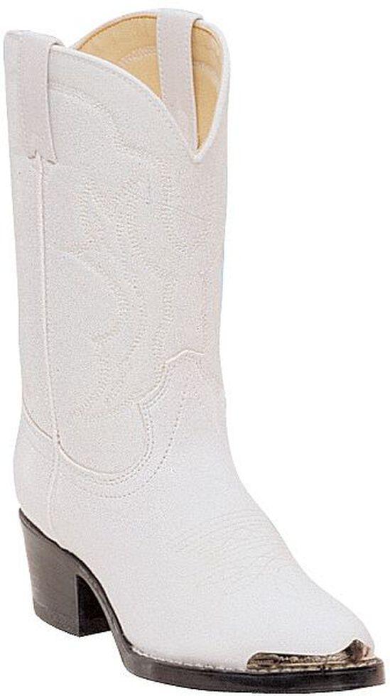 Durango Girls' White Cowgirl Boots - Round Toe, White, hi-res