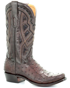 Corral Men's Jesse Western Boots - Narrow Square Toe, Chocolate, hi-res