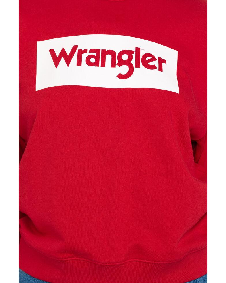 Wrangler Modern Women's Red 80's Logo Sweatshirt , , hi-res