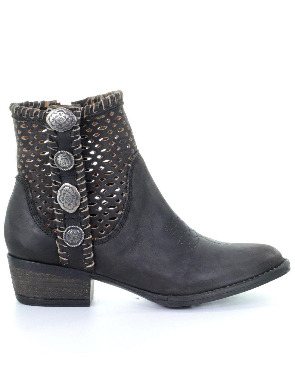 Circle G Women's Black Cutout Fashion Booties - Round Toe, Black, hi-res